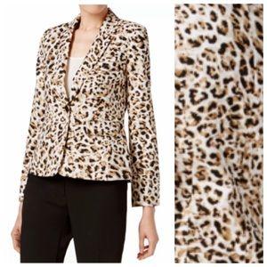 NWT Calvin Klein Leopard Print Shrunken Jacket 6P